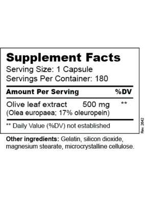 Olive Leaf Extract - Supplement Facts