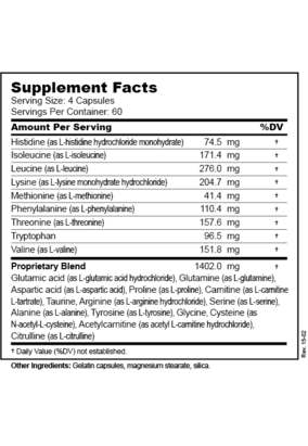 Balanced Free-form Amino Acids - Supplement Facts