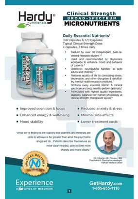Hardy Nutritionals Wellness Products Booklet